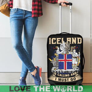 ICELAND IS CALLING AND I MUST GO LUGGAGE COVER A2