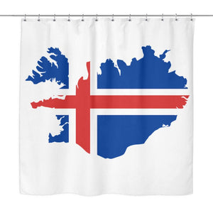 Iceland Map Shower Curtain X1 1 Curtains