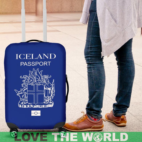 Iceland Passport Blue Luggage Cover - Bn Covers