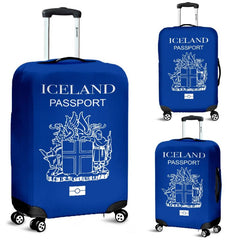 ICELAND PASSPORT BLUE LUGGAGE COVER - BN