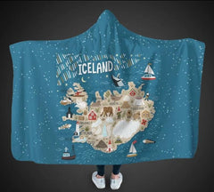 ICELAND THINGS HOODED BLANKET - HM1