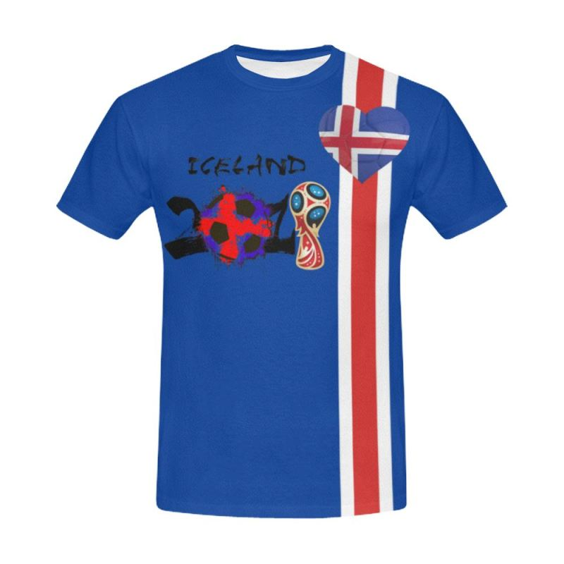 cf6ed9d590d Iceland World Cup 2018 All Over Print T-Shirt Th7 S / Men All Over. Tap to  expand