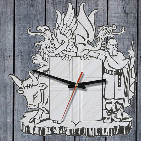 Iceland Coat Of Arms™ Wooden Wall Clock K3