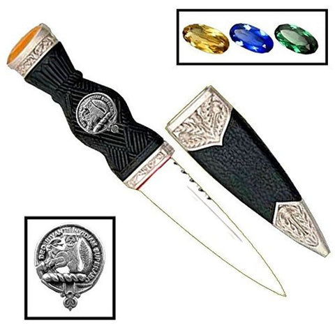MacThomas Clan Crest Sgian Dubh Scottish Knife