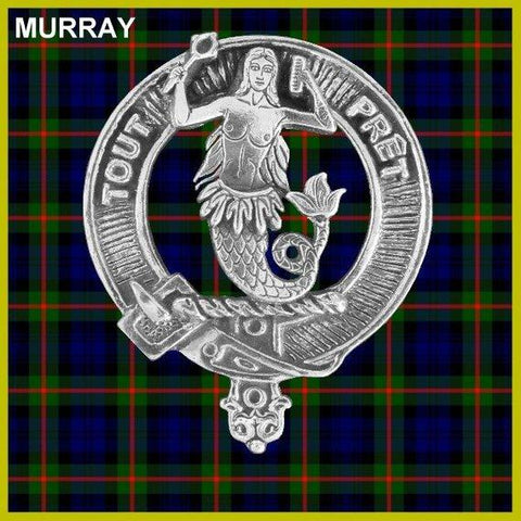 Murray (Mermaid) Tartan Clan Crest Scottish Cap Badge