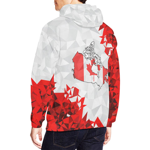 Canada Day Hoodie - The True North Strong and Free men
