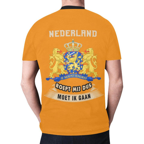 Nederland Roept Mij Dus T-Shirt A4 Men / Xs Polyester-All Over Print T-Shirts