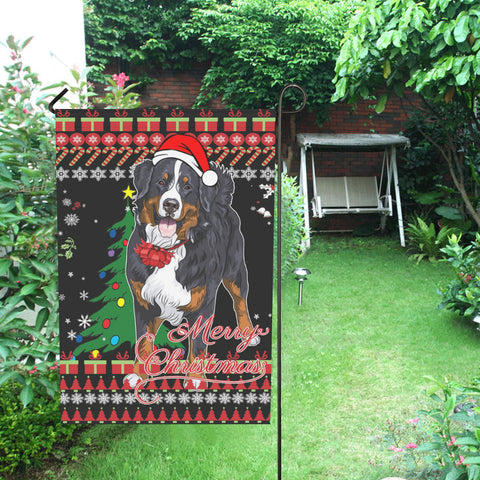 home decor, christmas, bernese mountain dog, swiss bernese, garden flags, merry christmas, cyber monday, black friday, 1sttheworld, online shopping