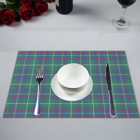 Inglis Ancient Tartan Placemat 14 Inch X 19 (Six Pieces) - Tk1 Placemats