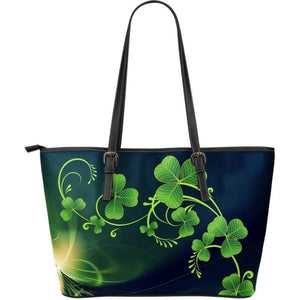 Shamrock Lightly Large Leather Tote Bag