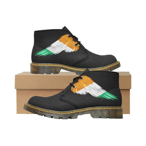 Ireland (Mens/womens) Nubuck Chukka Boots Z1 Ireland Flag Wing 01 Mens (Model 2402) / Us7 Nubuck