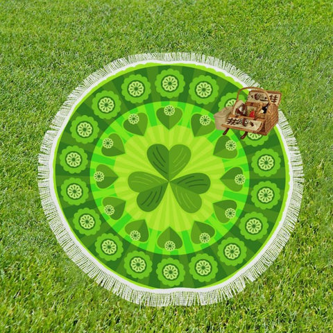 Image of Ireland Shamrock Luxury Circular Shawl C1 Shawls