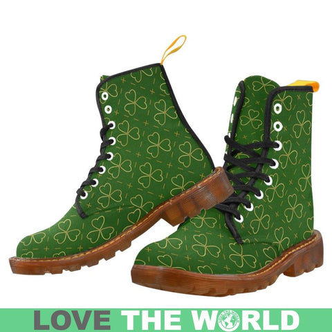 Ireland Shamrock Pattern Martin Boots D5 Us7 / Men Martin Boots For Men Model 1203H
