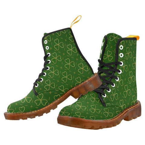 Ireland Shamrock Pattern Martin Boots H5 Us7 / Men Martin Boots For Men Model 1203H