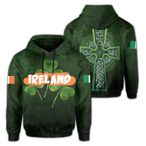Image of Ireland Cross Shamrock Hoodie