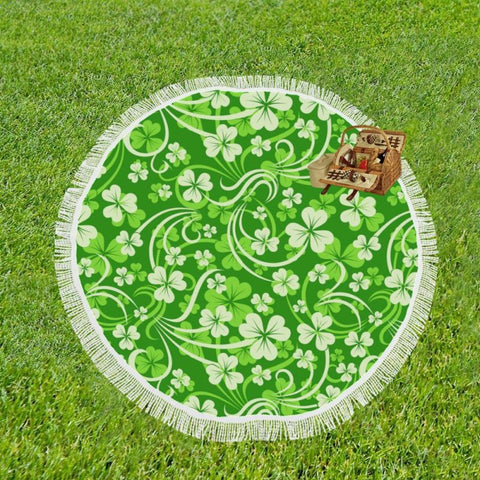 Image of Irelands Shamrock Circular Shawl C1 Shawls