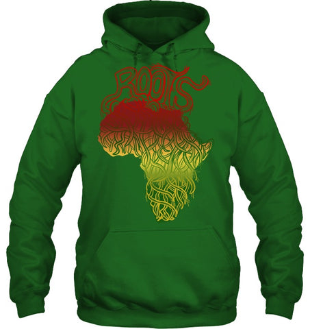 Image of Africa Hoodie - Africa Map Roots - J5