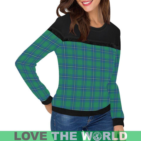 Irvine Ancient Tartan Women's Fringe Detail Sweatshirt - BN |Clothing| 1sttheworld