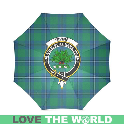 Image of Irvine Tartan Clan Badge Foldable Umbrella Th8 |Accessories| 1sttheworld