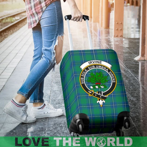 Irvine  Tartan Clan Badge Luggage Cover Hj4 | Love The World