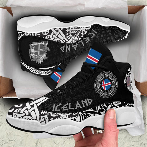 Viking Style - Iceland Coat Of Arms High Top Sneakers Shoes A31