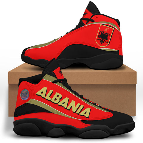 Albania High Top Sneakers Shoes (Women's/Men's) - Special Flag