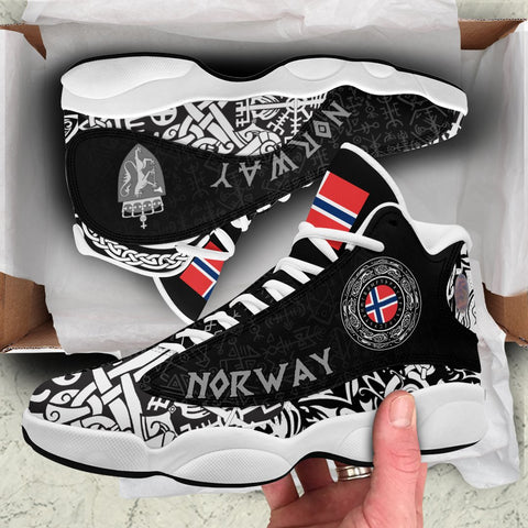Viking Style - Norway Coat Of Arms High Top Sneakers Shoes A31