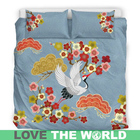 Japanese bedding sets - japanese bedding sets, japan bedding set, japanese crane, japanese animals, duvet covers, bedding set, home set, online shopping