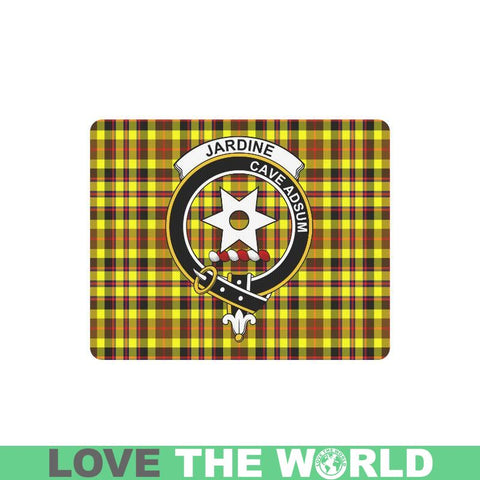 Jardine Tartan Clan Badge Mousepad - P1 One Size / Jardine Heart-Shaped Mousepad Mousepads