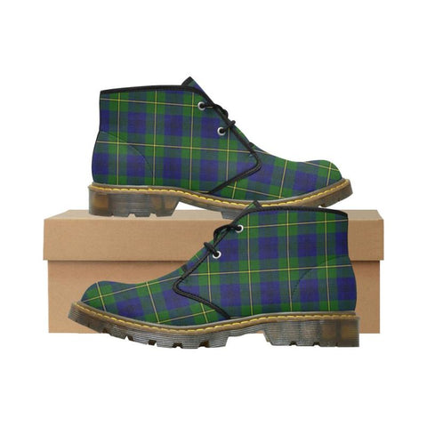 Tartan Chukka Boot - Aberdeen District | Nubuck Chukka Boots | Scotland Shoes