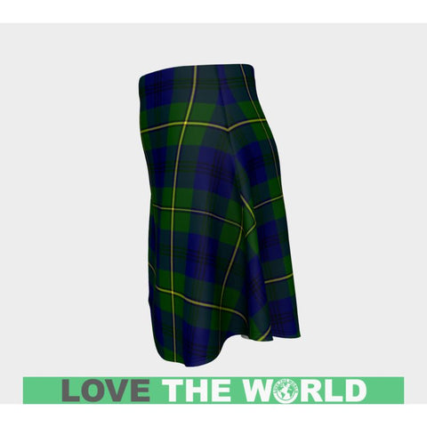 Image of Tartan Skirt - Johnston Modern Women Flared Skirt A9 |Clothing| 1sttheworld