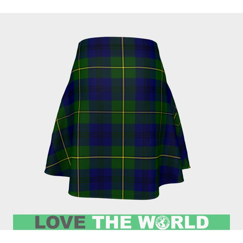 Tartan Skirt - Johnston Modern Women Flared Skirt A9 |Clothing| 1sttheworld