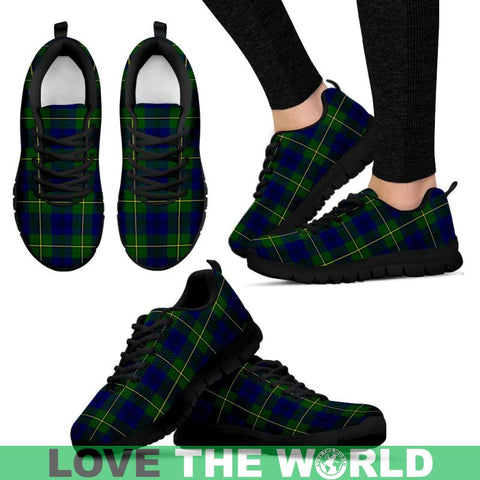 Image of Johnston Modern Tartan Sneakers - Bn Mens Sneakers Black 1 / Us5 (Eu38)