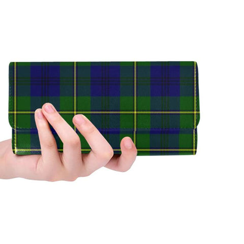 Johnston Modern Tartan Trifold Wallet Hj4 One Size / Johnston Modern Red Womens Trifold Wallet