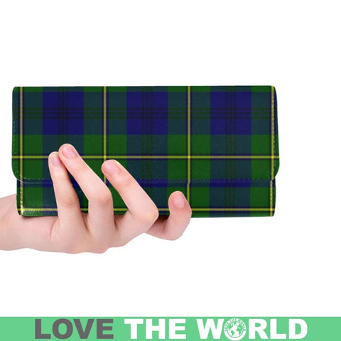 Johnston Modern Tartan Trifold Wallet V4 One Size / Johnston Modern Red Womens Trifold Wallet