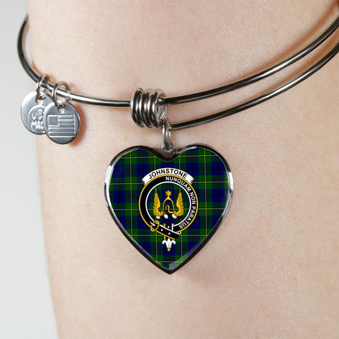 Johnstone Tartan Silver Bangle - M8 Jewelries