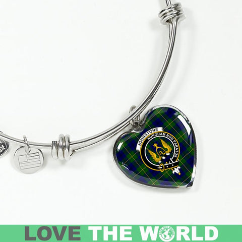 Johnstone Tartan Silver Bangle - Sd1 Jewelries