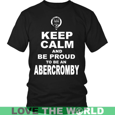 Keep Calm And Be Proud Abercromby N7 Gildan Womens T-Shirt / Black S T-Shirts