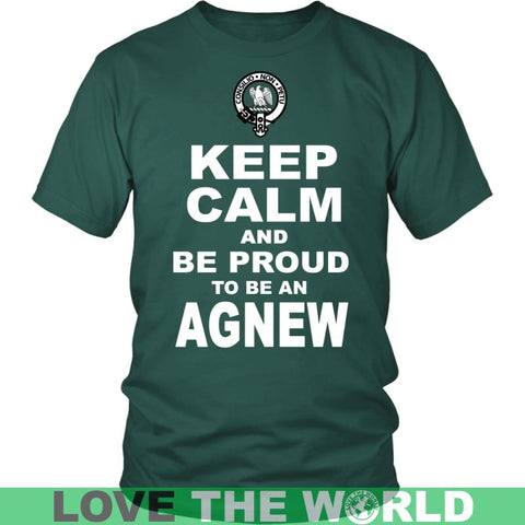 Keep Calm And Be Proud Agnew N7 Gildan Womens T-Shirt / Black S T-Shirts