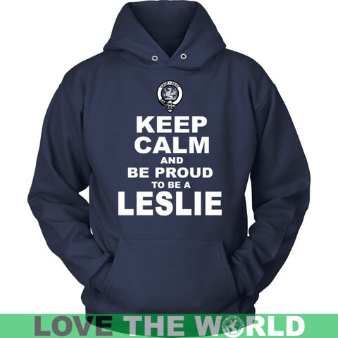 Keep Calm And Be Proud Leslie N7 Gildan Womens T-Shirt / Black S T-Shirts