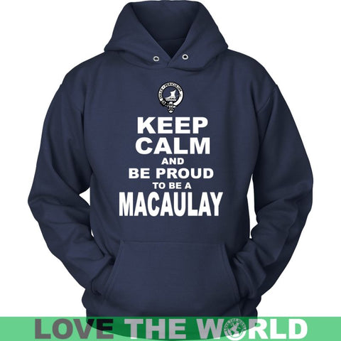 Image of Keep Calm And Be Proud Macaulay N7 Gildan Womens T-Shirt / Black S T-Shirts