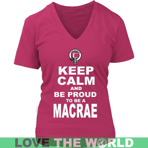Image of Keep Calm And Be Proud Macrae N7 Gildan Womens T-Shirt / Black S T-Shirts
