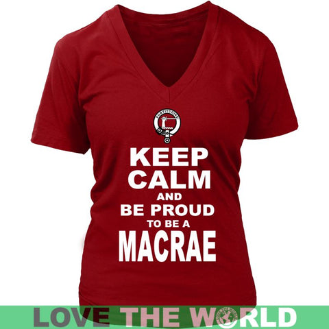 Keep Calm And Be Proud Macrae N7 Gildan Womens T-Shirt / Black S T-Shirts