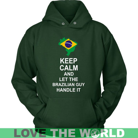 Image of Keep Calm And Brazilian Guy 3 District Unisex Shirt / Royal Blue S T-Shirts