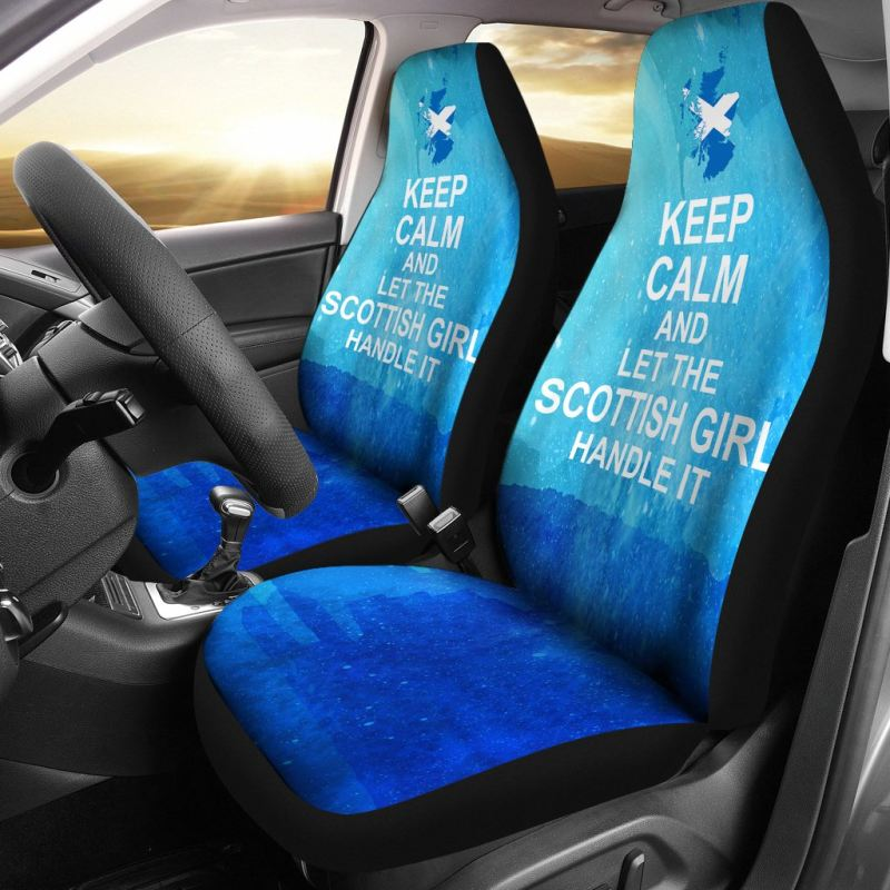 Keep Calm And Let The Scottish Girl Handle It Car Seat Covers Th7