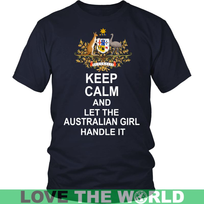 Keep Calm Australian Girl G5 Gildan Womens T-Shirt / Black S T-Shirts