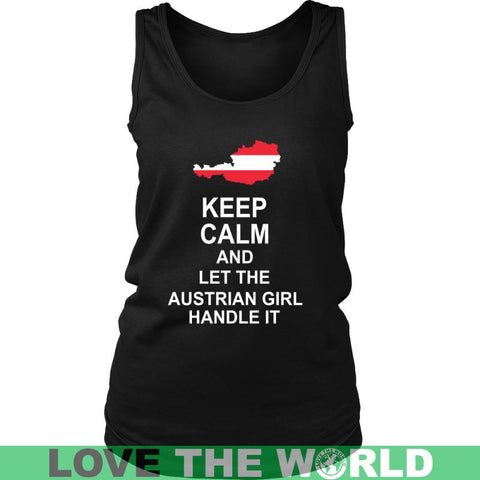Image of Keep Calm Austrian Girl Unisex Hoodie / Black S T-Shirts
