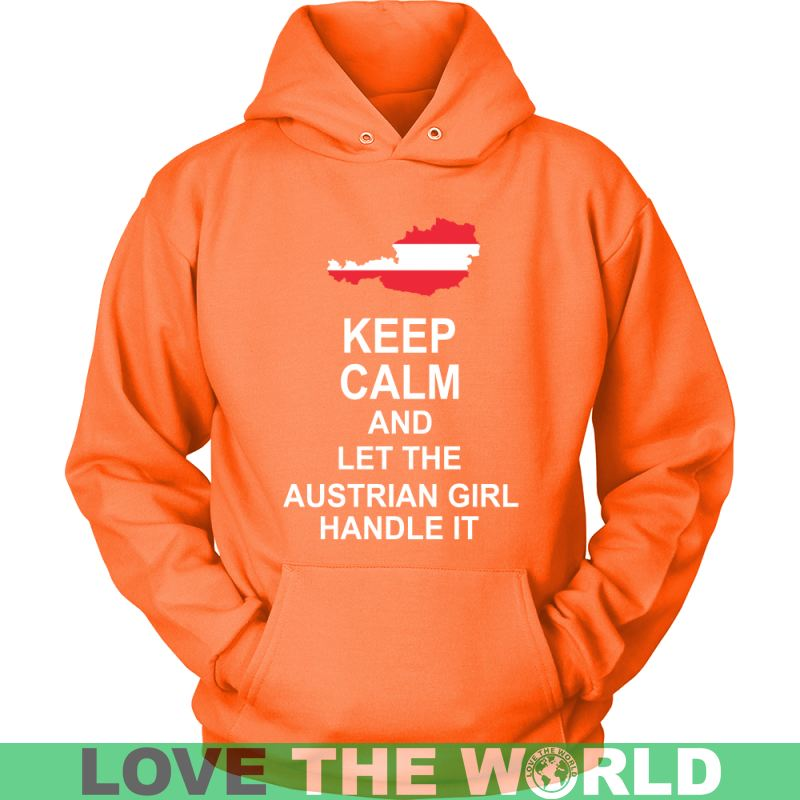 Keep Calm Austrian Girl Unisex Hoodie / Black S T-Shirts
