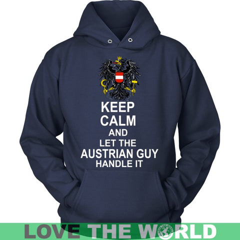 Image of Keep Calm Austrian Guy G5 District Unisex Shirt / Royal Blue S T-Shirts