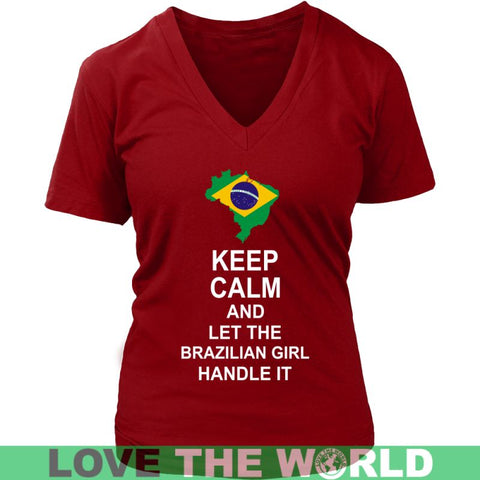 Image of Keep Calm Brazilan Girl 3 Unisex Hoodie / Black S T-Shirts